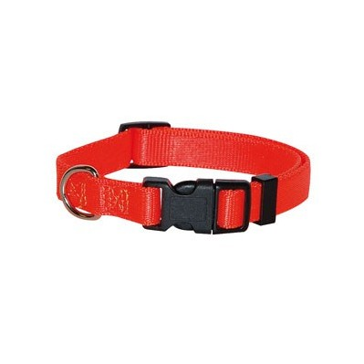 Collier nylon réglable orange fluo vivog
