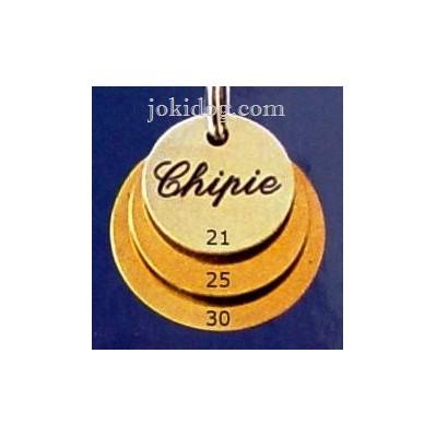 "Médaille "" Ronde"" laiton massif"