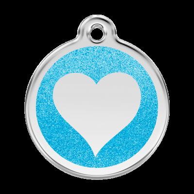 Médailles Scintillantes Coeurs RED-DINGO