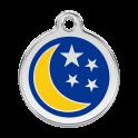 Médailles  Lune et étoiles RED-DINGO