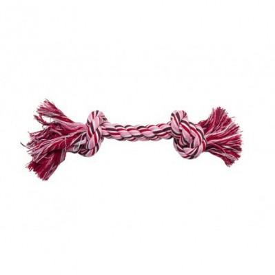 corde de coton 2 noeuds 38 cm rose