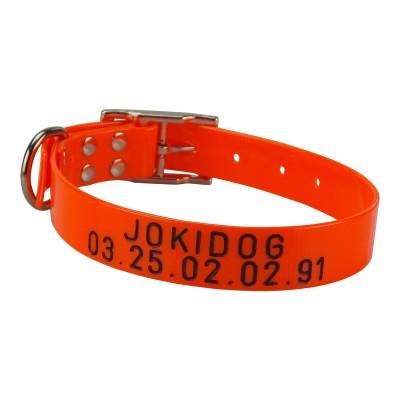 """Collier """"boucle ceinture"""" avec numéro gravé Collier-hunt-us-25-mm"""