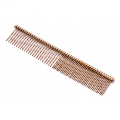 peigne métal double fin et moyen 16 cm