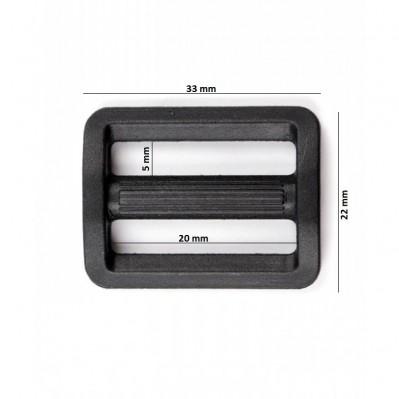 Passants plastique 2M-20 mm