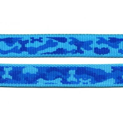 sangle polypropylène au mètre - camouflage bleu