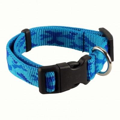 Collier nylon Camo bleu