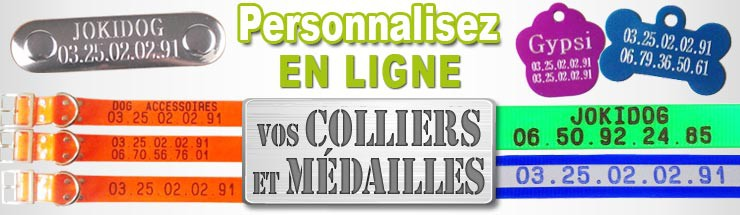 personnalisez vos colliers